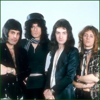 The band Queen around the time of Bohemian Rhapsody.