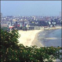 The coastline of Bombay.