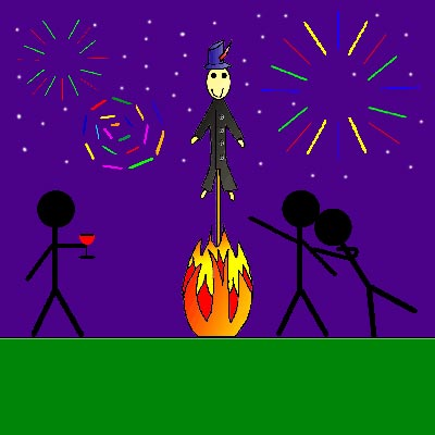 This is my cartoon sketch for The Post and it is named Bonfire Romance