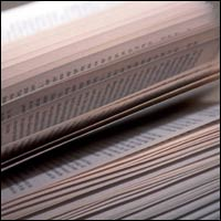 A close-up on the pages of a book.