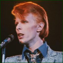 David Bowie in the 1970s.
