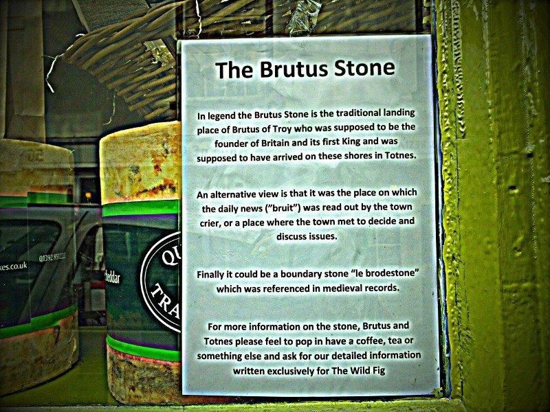Explanation of the Brutus Stone in Totnes.