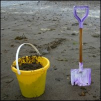 A bucket and spade.