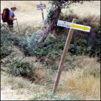 Pilgrim on the Camino de Santiago.
