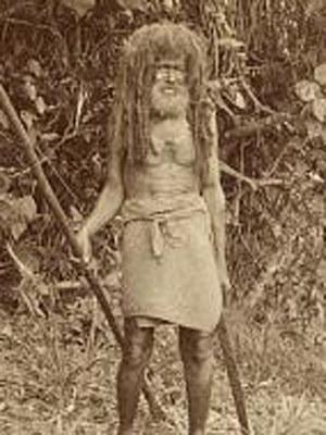 Cannibal Tom from Fiji. Picture courtesy of Library of Congress