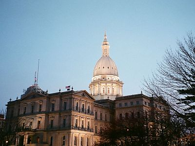 The Capitol Building in Lansing, Michigan, USA.