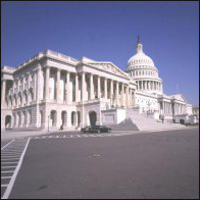 The Capitol Building in Washington DC, home of the US Senate.