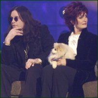 Classic celebrity couple Ozzy and Sharon Osbourne.