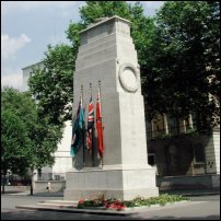 The Cenotaph in Whitehall.