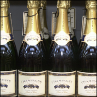 Some bottles of champagne.