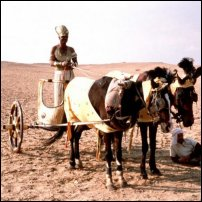 What an Egyptian two-horse chariot would have looked like.