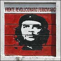 Mural painting of Che Guevara in Caracas, Venezuela.