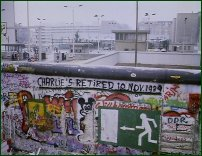 Checkpoint Charlie, shortly after the fall of the Berlin Wall.