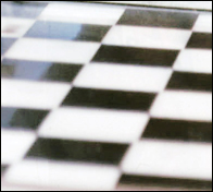 A checkers or draughts board.