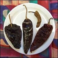 Ancho, guajillo, chipotle, and pasilla.