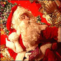 Father Christmas, aka Santa Claus, in his grotto.