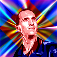 Actor Christopher Eccleston as the ninth 'Doctor Who'. Graphic by Jimster.