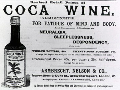 An old advertisement for Cocawine.