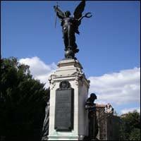 The WWI war memorial in Colchester, Essex.