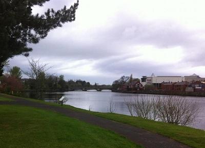 The river and bridge near Coleraine.