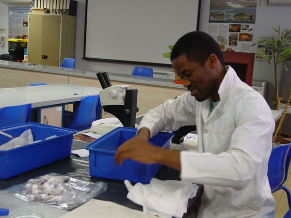 Michael with samples