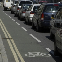 A cycle lane.