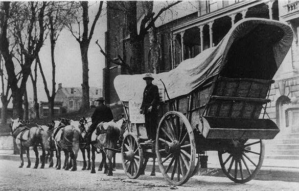 Conestoga wagon.