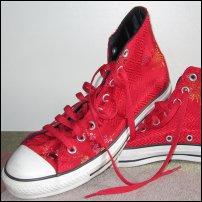A pair of Converse All Stars.