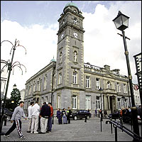 Enniskillen Town Hall, in County Fermanagh, Northern Ireland.