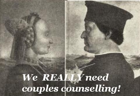 Couple in need of martial counselling.