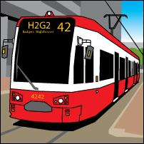 A Croydon tram.