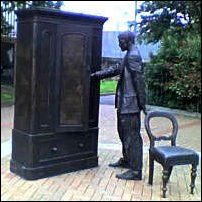 The Belfast statue of CS Lewis, sculpted by Ross Wilson.