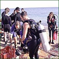 Scuba-diving in Dahab.