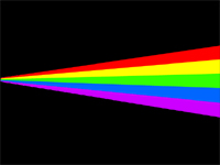 A spectrum against a black background.