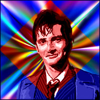 Actor David Tennant as the tenth 'Doctor'. Graphic by Jimster.