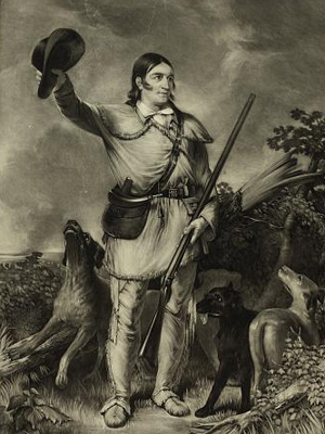 Davy Crockett. Picture courtesy of Library of Congress