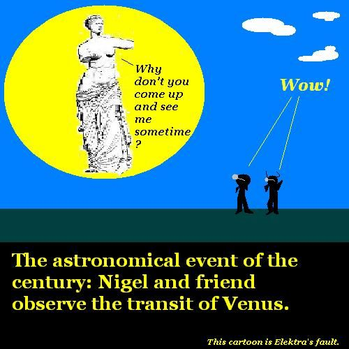 Nigel and friend observe the transit of Venus.