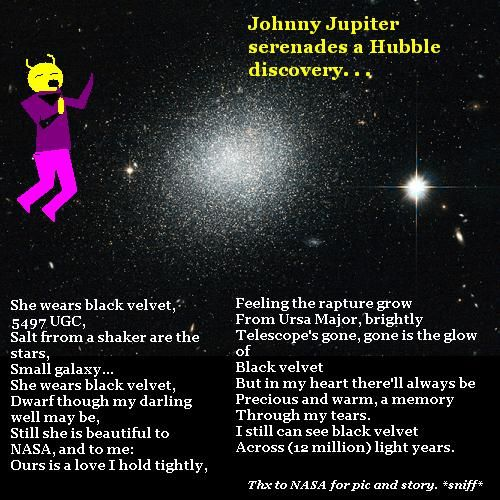 Johnny Jupiter serenades a Hubble Discovery.