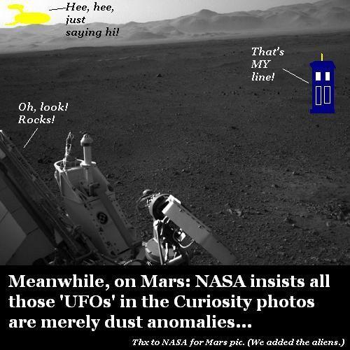 Curiosity Rover meets UFOs.