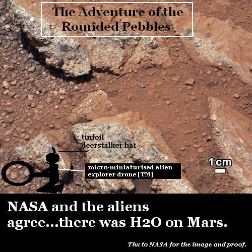 Evidence of water on Mars.