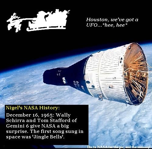 Gemini 6 play a Christmas prank on NASA.
