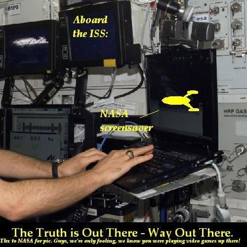 The ISS screensaver, evidence of UFO belief?
