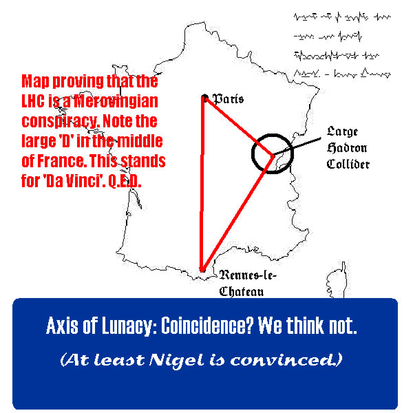 Annotated map of France.