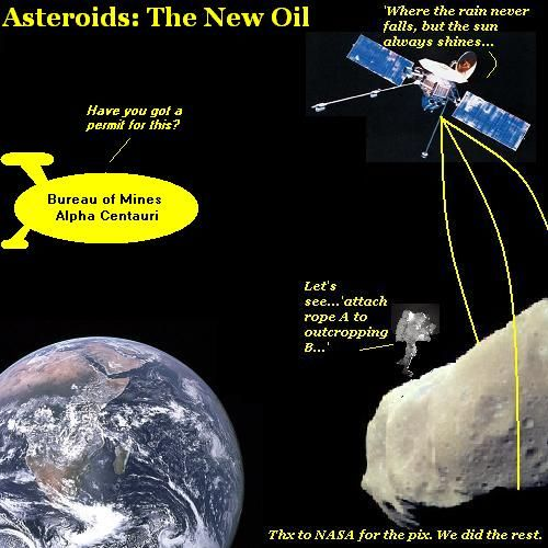 Mining an asteroid