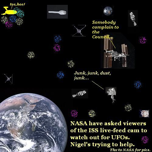 Looking for UFOs among the space junk.