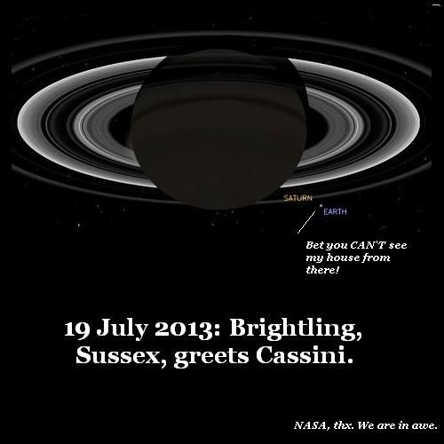 Brightling waves at Cassini.