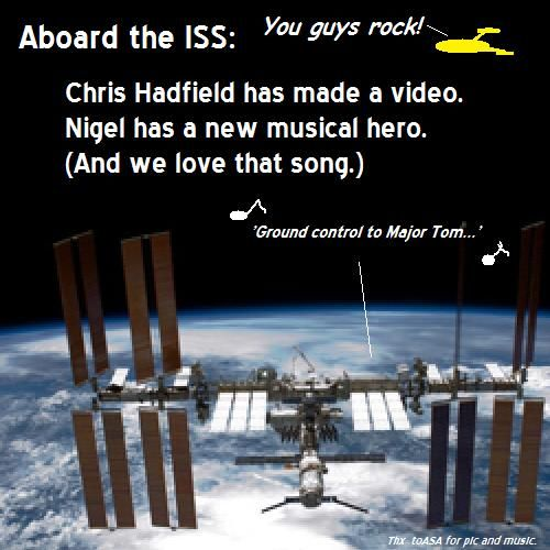 Chris Hadfield makes music history aboard the ISS.