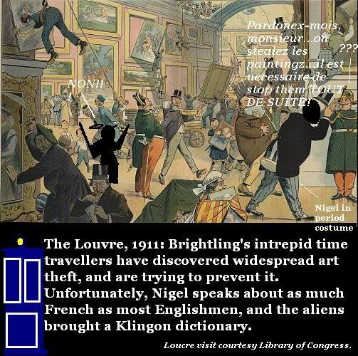 Nigel rescues paintings, or tries to.