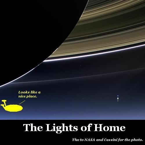 The lights of home.