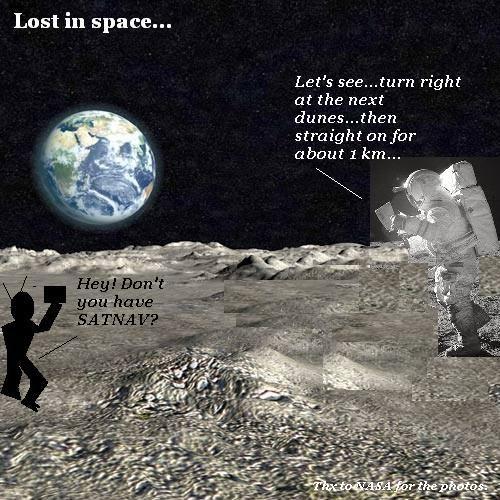 Astronaut needs directions
